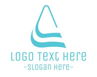 H2o - Letter A Waves logo design