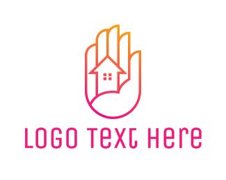 Renovation - Gradient Palm House logo design