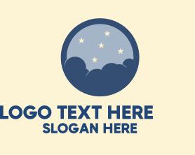 Night - Cloudy Night Sky logo design