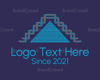 Build - Stairs Pyramid logo design