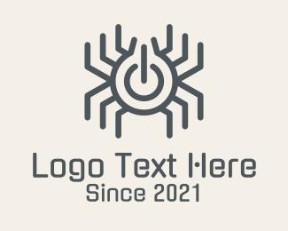 Electronic - Spider Electronic Power logo design