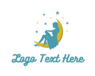 Lady - Moon Lady logo design