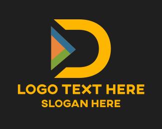 Yellow Letter D Logo