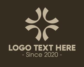 Textile Design - Elegant Religious Cross logo design
