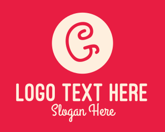 Handwritten - Pink Handwritten Letter G logo design