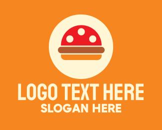 Fastfood - Mushroom Burger Restaurant logo design