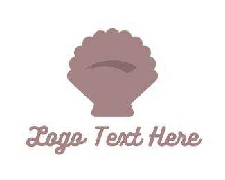 Seashell - Brown Seashell logo design
