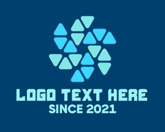 Gadget Store - Computer Fan Tech Pattern  logo design