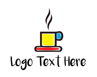 Colorful Coffee Mug Logo