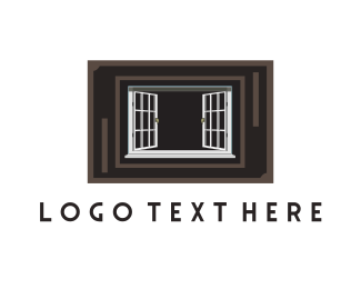 Decor - White Window logo design
