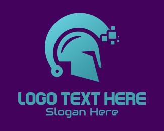 Spartan - Spartan  Circuit Helmet  logo design