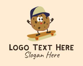Skater - Skater Cookie Mascot logo design