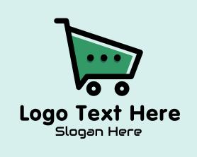 Social Media - Online Shopping Cart Chat logo design