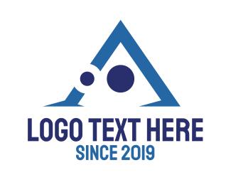 Trade - Tech Letter A logo design