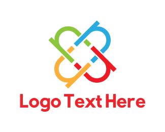 Letter N - Colorful Letter N logo design
