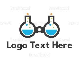 Science - Science & Binocular logo design