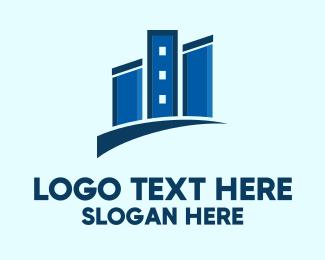 Buildings - Modern Apartment Buildings logo design