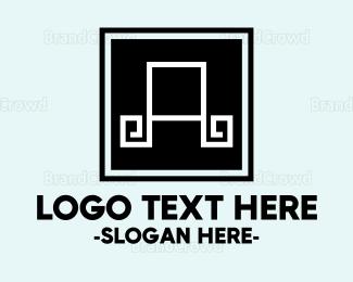 Flooring - Letter A Tile logo design