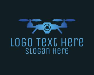 Drone - Blue Sky Drone logo design