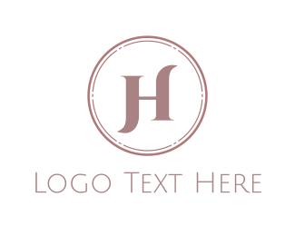 Classy - Elegant Pink Letter H logo design