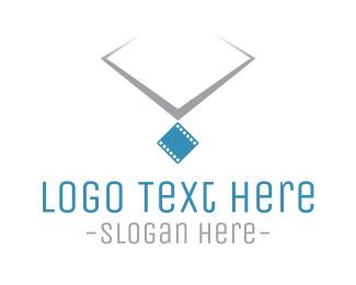 Cinema - Film Necklace logo design