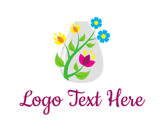 Bloom - Decorative Flower Vase logo design