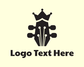 Folk - Royal Guitar  logo design