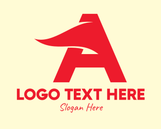 Racing Letter A Flag Logo
