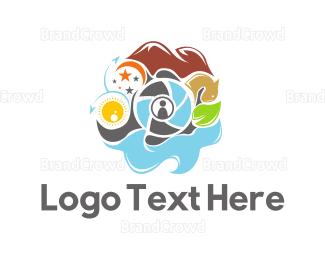 Wanderlust - Travel Photography logo design