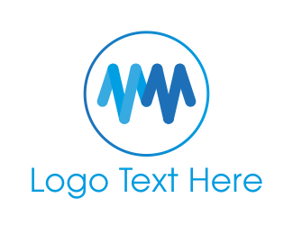 Professional Service - Blue Heartbeat logo design