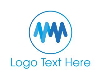Heartbeat - Blue Heartbeat  logo design