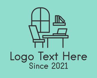 Room - Minimalist Study Room logo design