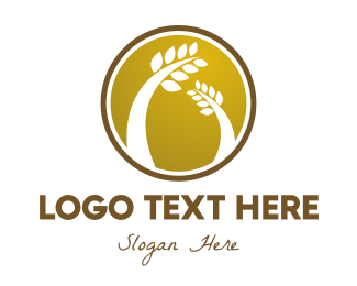 Badge - Wheat Badge logo design