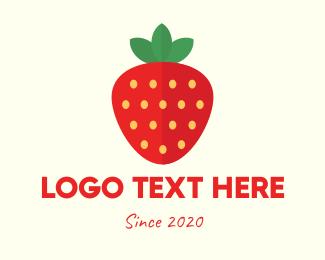 Berries - Fresh Strawberry logo design
