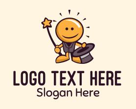Light - Light Bulb Magician Mascot logo design