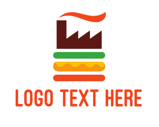 Factory - Burger Factory logo design