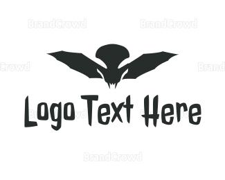 Batman - Monster Skull Wing logo design