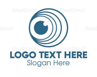 Telescope - Circle Loop Lens logo design