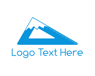 Long - Mountain Ruler logo design