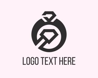 Wedding - Black Ring logo design