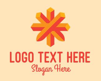 Geometrical - Geometrical Asterisk logo design
