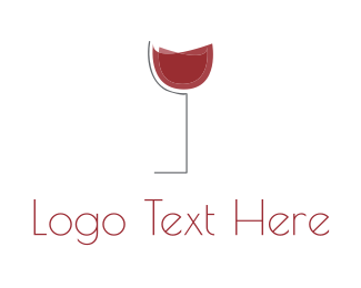 Thirst - Red Wine Cup logo design