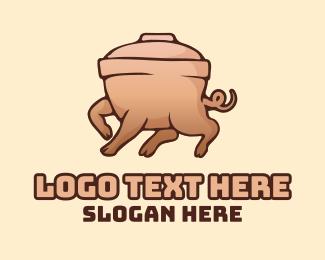 Stew - Pig Rice Bowl logo design
