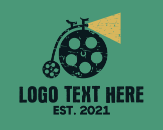 Retro - Bike Film logo design
