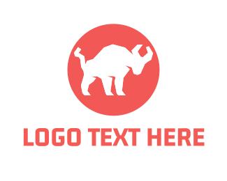 Yak - Bull Circle logo design