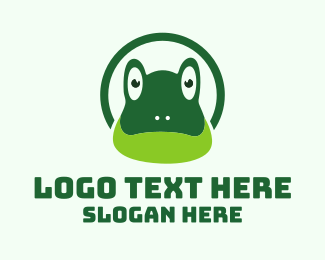 Toad - Green Toad Frog logo design