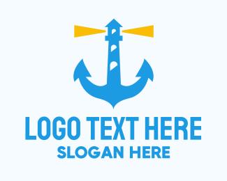 Anchor - Lighthouse Anchor logo design