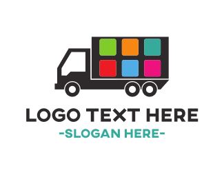 Moving Company - Truck Application logo design