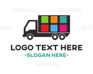 Distribution - Truck Application logo design