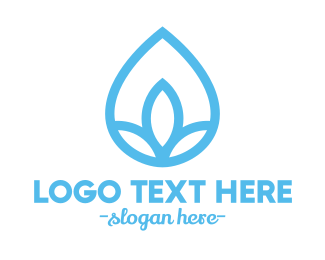 Green Drop - Water Flower Drop logo design